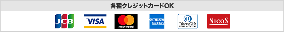 JCB VISA MasterCard DC American express UFJ NICOS