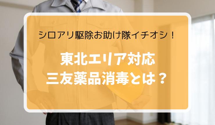 シロアリ駆除おすすめ業者【三友薬品消毒】